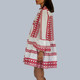 Boho Mini Kaftan, Dress in Passion Red