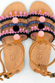 Gladiator in Pink, Handmade Leather Sandals