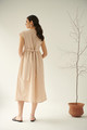 Magnolia, Linen Dress in Champagne Pink