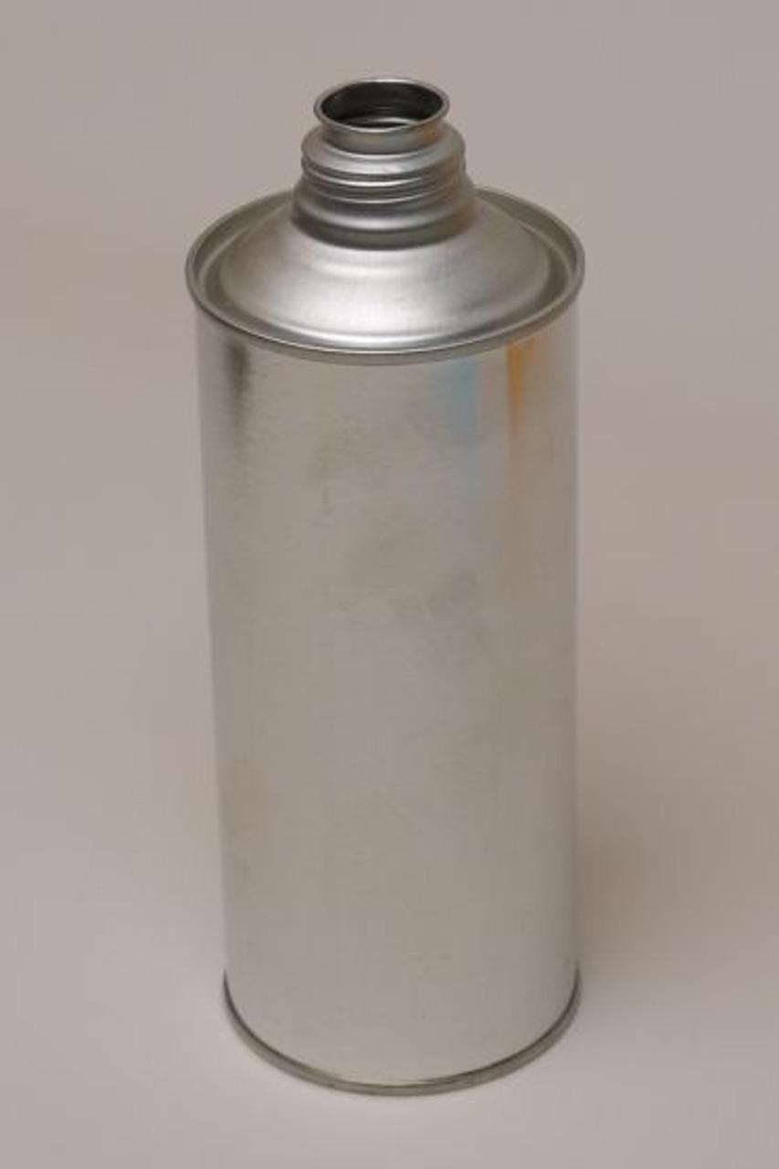 1 QUART METAL ROUND CONE TOP CAN WITH SCREW CAP - 1 1/8 INCH BETA