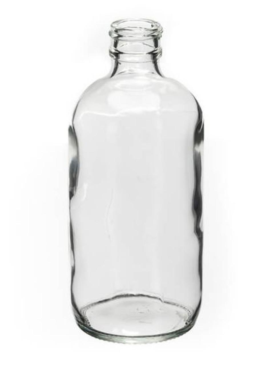 32 OZ CLEAR BOSTON ROUND GLASS BOTTLE