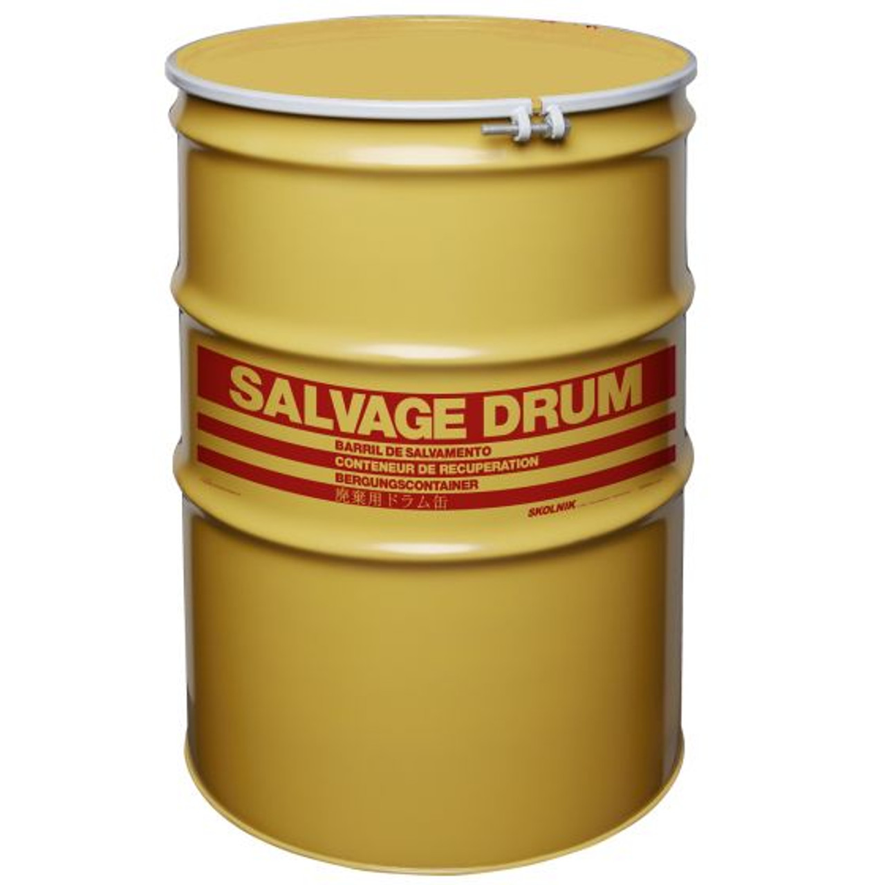 110 Gallon Steel Salvage Drum, Lined