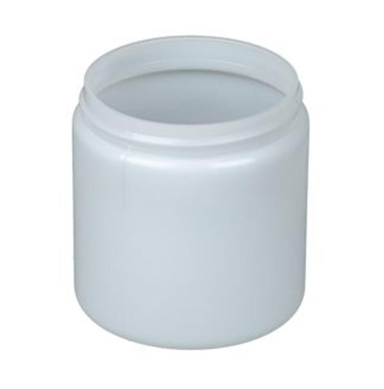 8 oz Natural HDPE Wide Mouth Jar