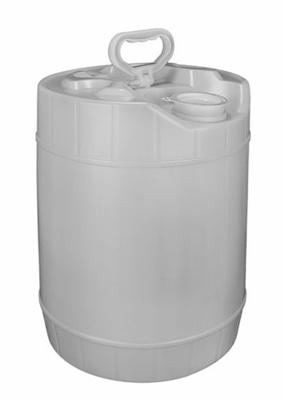 5 GALLON ROUND PLASTIC PAIL, CLOSED HEAD, FLEXSPOUT® OPENING - NATURAL