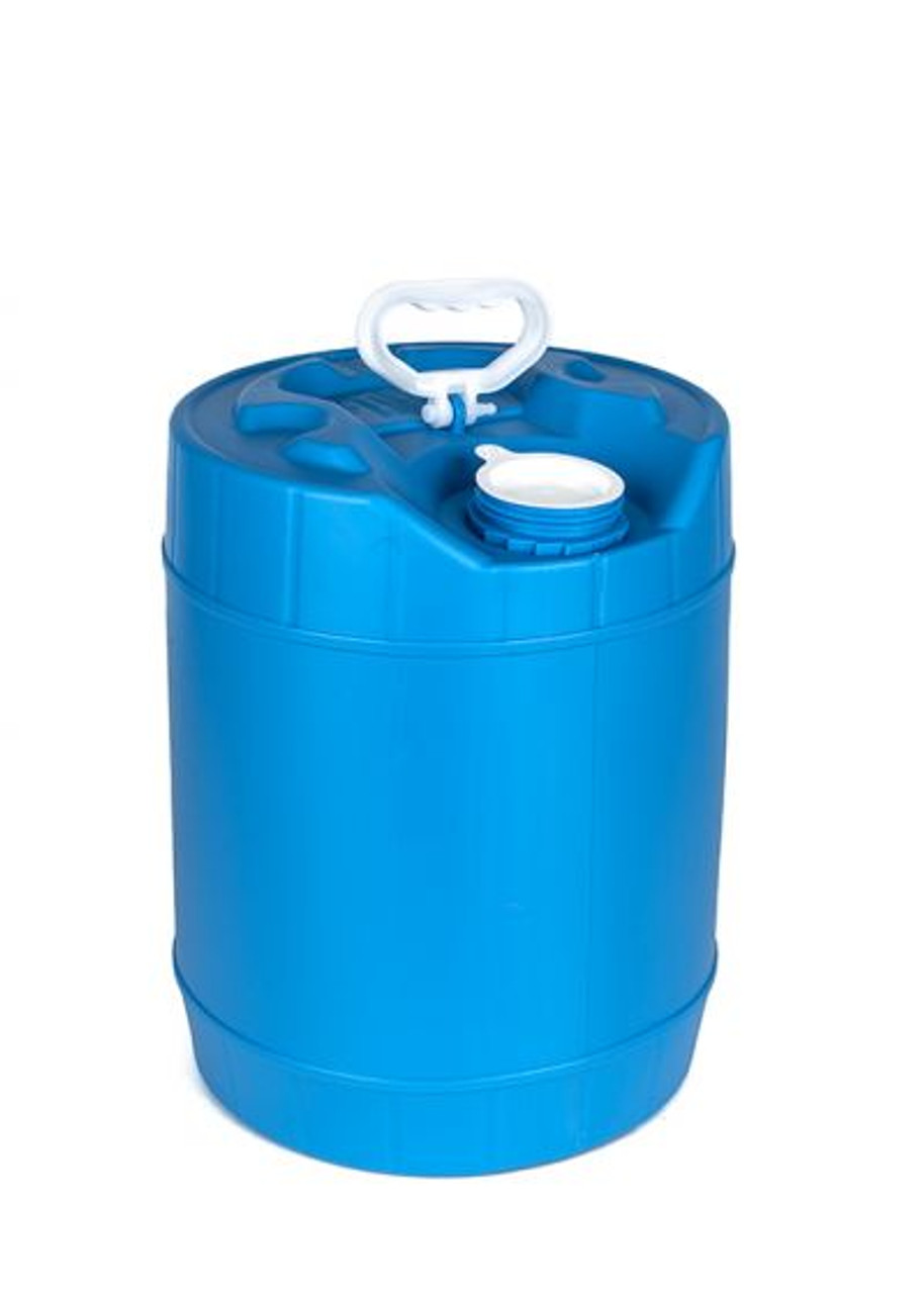 5 GALLON ROUND PLASTIC PAIL, CLOSED HEAD, 70 MM – BLUE