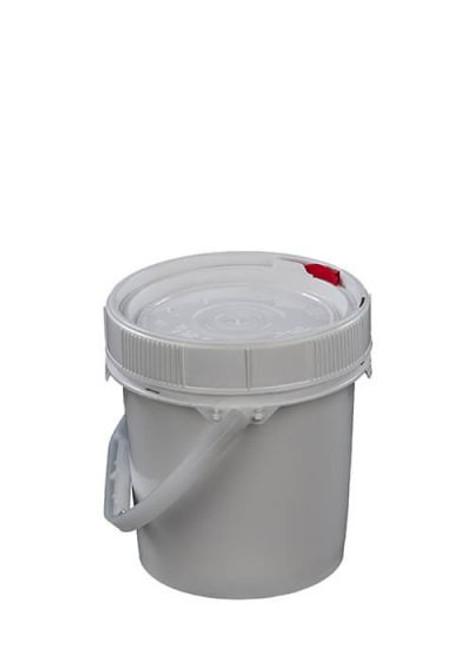 LIFE LATCH ® 0.6 GALLON PLASTIC PAIL, WHITE SCREW TOP LID – WHITE