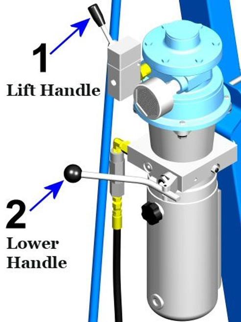 MORSE® AIR POWER TILT AND LIFT - 72 INCH POUR HT - HYDRA-LIFT DRUM KARRIER