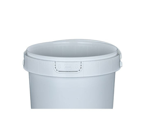 1 GALLON ROUND PLASTIC CONTAINER - HANDLE - IPL COMMERCIAL SERIES