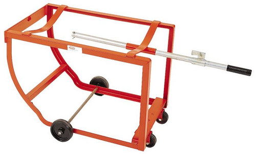HIGH CAPACITY DRUM CRADLE WITH STEEL CASTERS - 4 INCH STEEL WHEELS