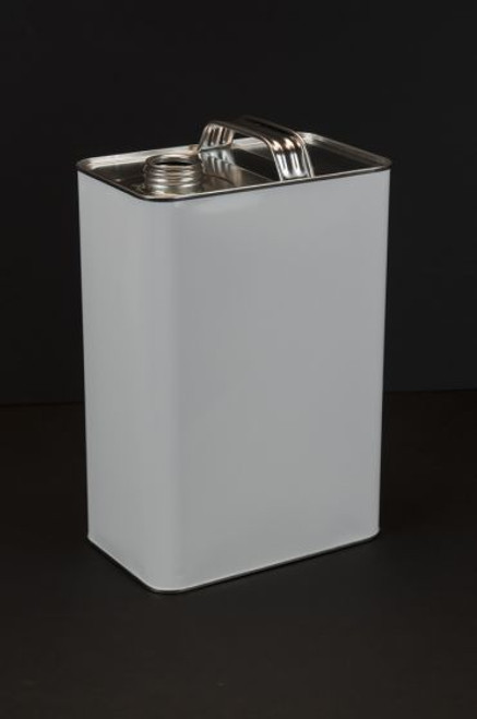 1 GALLON WHITE F-STYLE METAL CAN