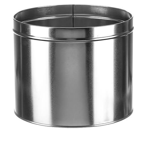 10 LB INDUSTRIAL TIN SLIP COVER CAN WITH LID