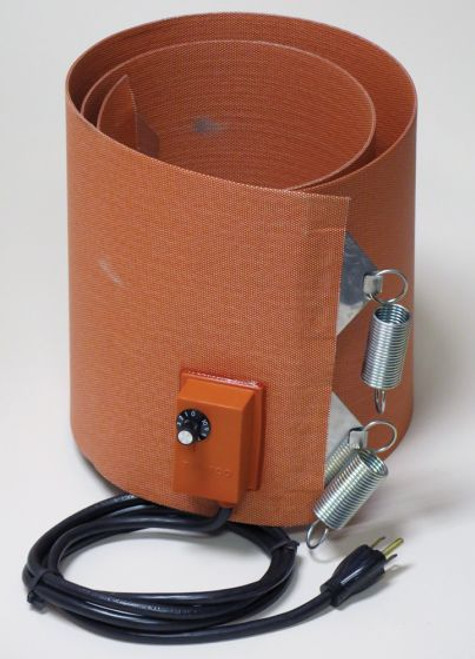 SILICONE RUBBER 55 GALLON PLASTIC DRUM HEATER 9.5 INCH WIDE