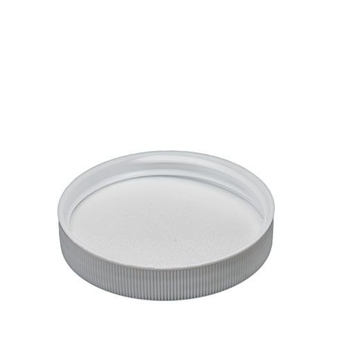 WHITE POLYPROPYLENE SCREW CAPS - 58 MM