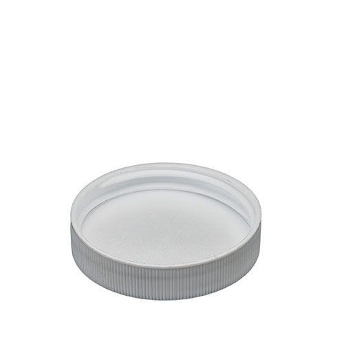 WHITE POLYPROPYLENE SCREW CAPS - 48 MM