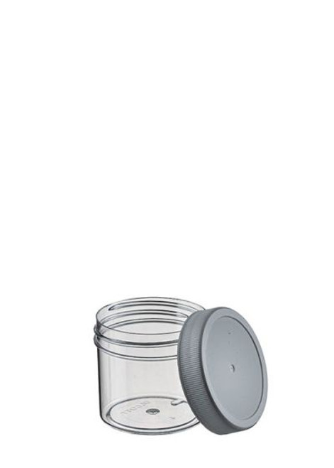 2 OZ POLYSTYRENE WIDE MOUTH JAR WITH LID