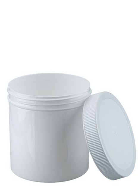 16 OZ WIDE MOUTH POLYPROPYLENE JAR WITH LID