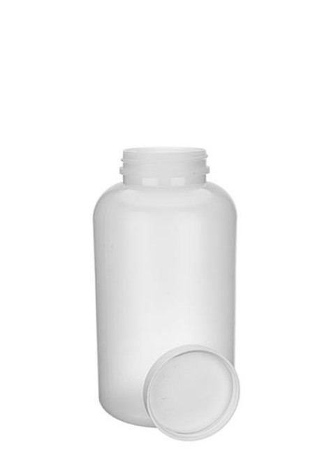 16 OZ NATURAL HDPE WIDE MOUTH BOTTLE WITH LID