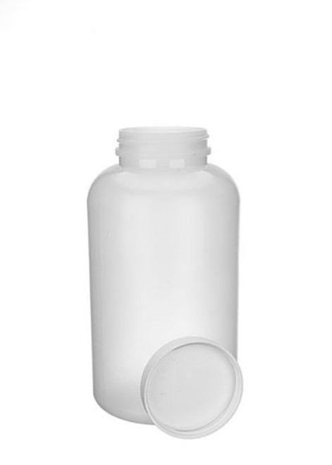 21 OZ NATURAL HDPE WIDE MOUTH BOTTLE WITH LID