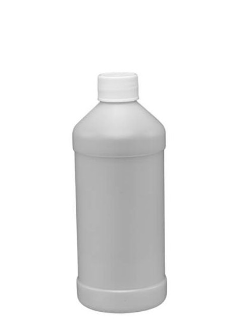 16 OZ MODERN ROUND PLASTIC BOTTLE WITH CAP