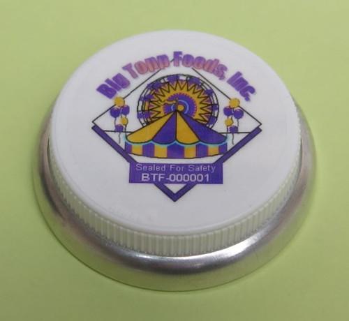 3/4 INCH HEX HEAD PLASTIC CAPSEAL CUSTOM DECORATED