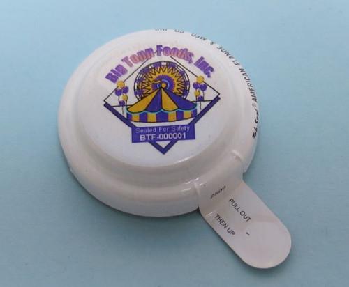3/4 INCH ROUND HEAD ALUMINUM CAPSEALS CUSTOM DECORATED