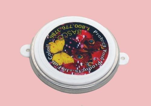 2 INCH ROUND HEAD PLASTIC CAPSEAL CUSTOM DECORATED