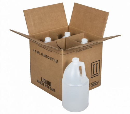 1 GALLON NATURAL HDPE ROUND BOTTLES WITH SHIPPING BOX