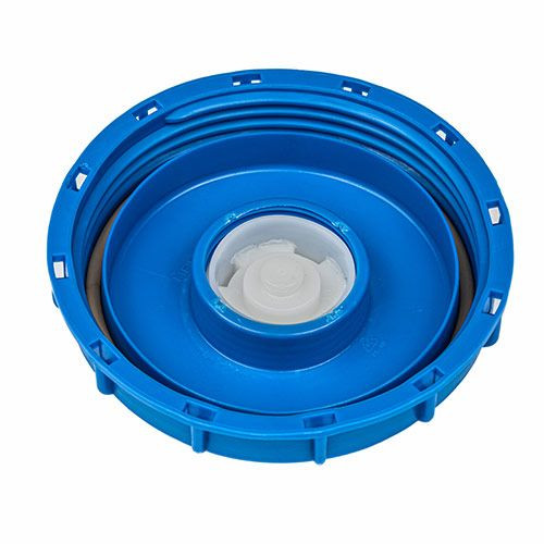 "6 INCH BLUE FILL CAP FOR MAUSER IBCS - 2"" BUTTRESS"
