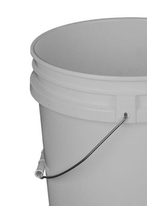 3.5 Gallon Tapered Plastic Pail, Open Head - White
