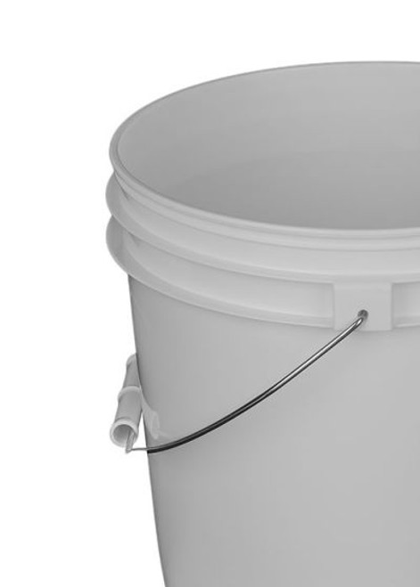 2 Gallon Plastic Pail, Open Head - White