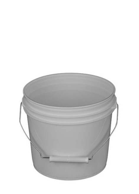 1 Gallon Plastic Pail, Open Head - White