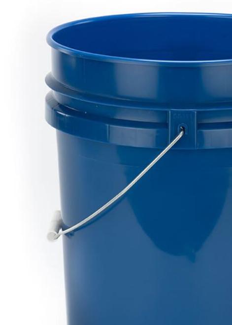 5 Gallon Plastic Pail, Open Head - Navy Blue
