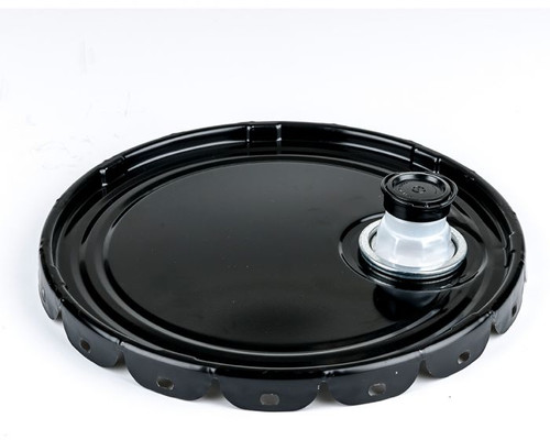 5 Gallon Open Head Steel Pail Lug Cover with Flexspout ® Opening – Black