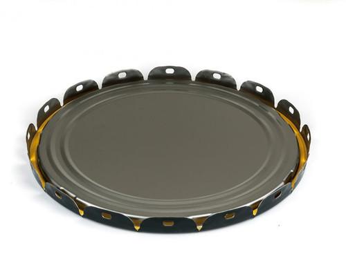 5 Gallon Open Head Steel Pail Plain Lug Cover - Black