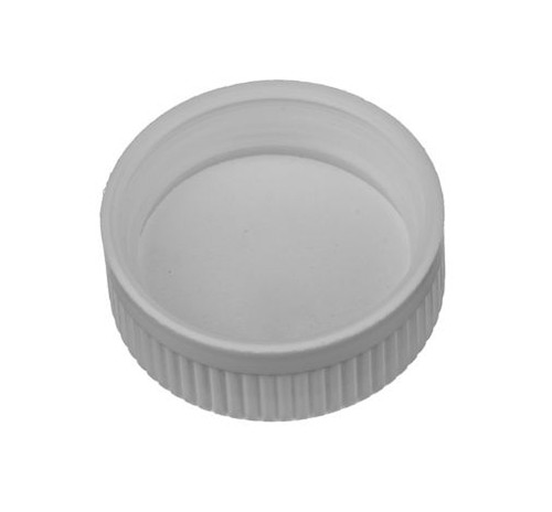 38 mm Polypropylene Screw Cap, Pressure Sensitive - White