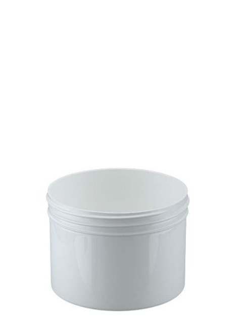 8 oz Wide Mouth Polypropylene Jar - White