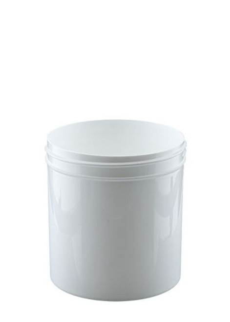 16 oz Wide Mouth Polypropylene Jar - White