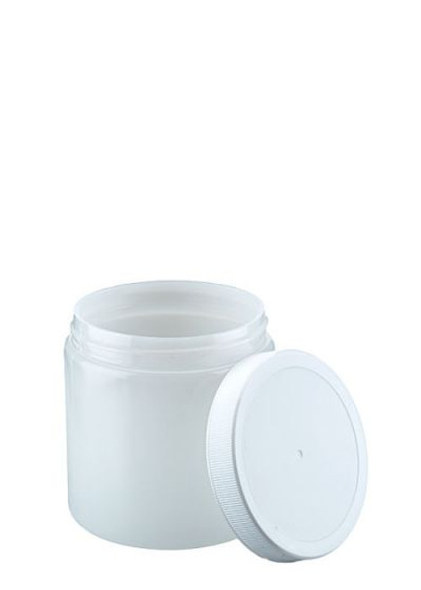 8 oz Natural HDPE Wide Mouth Jar with Lid