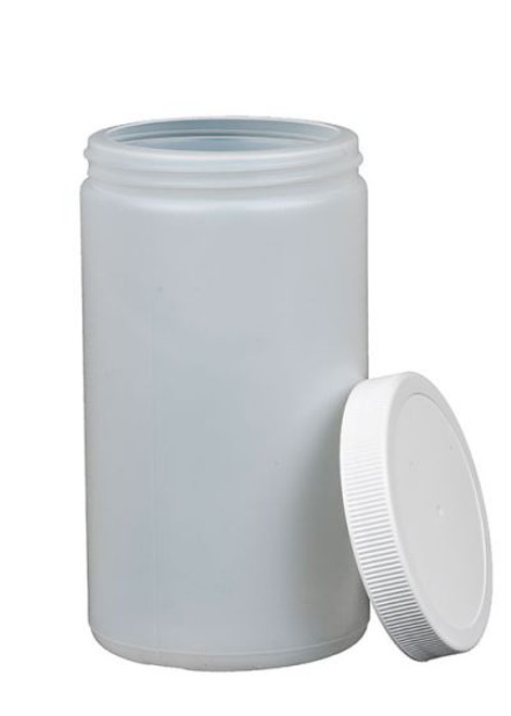 32 oz Natural HDPE Wide Mouth Bottle with Lid - 89-400 mm