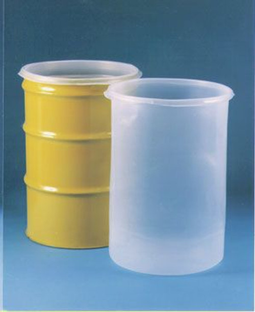 30 GALLON 15 MIL LDPE STRAIGHT SIDED SEAMLESS DRUM LINER