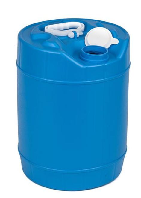 5 GALLON ROUND PLASTIC PAIL, CLOSED HEAD, FLEXSPOUT® OPENING - BLUE