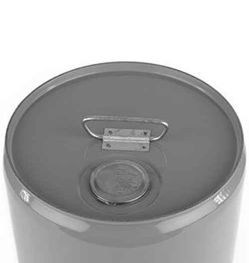 7 GALLON STEEL PAIL, CLOSED HEAD, LINED, FLEXSPOUT® OPENING - GRAY