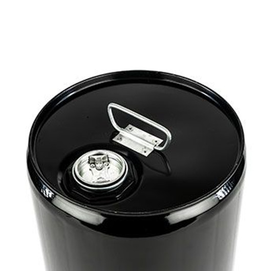5 GALLON STEEL PAIL, CLOSED HEAD, UNLINED, FITTING - BLACK