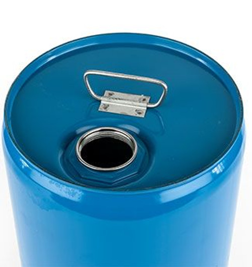 5 GALLON STEEL PAIL, CLOSED HEAD, UNLINED, FITTING - BLUE