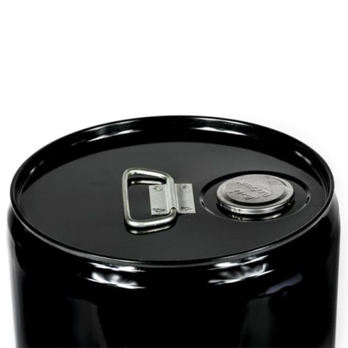 5 GALLON STEEL PAIL, CLOSED HEAD, RED PHENOLIC LINED - BLACK