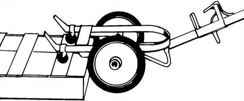 HUSTLER DRUM TRUCK - MOLDON RUBBER WHEELS - CHIME HOOK