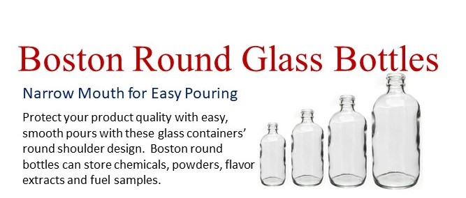 Wide Variety of Boston Round Glass Bottles