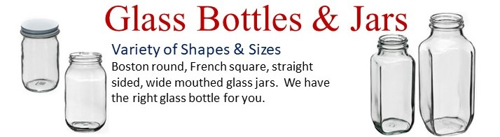Wide Variety of Glass Bottles & Jars