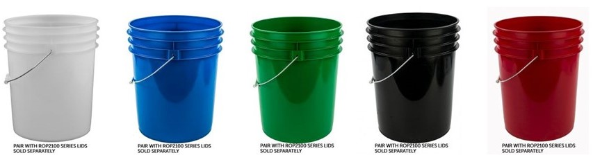 Wide Variety of Open Head Plastic Pails