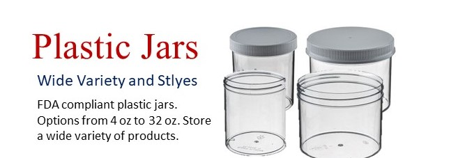 Wide Variety of Plastic Jars